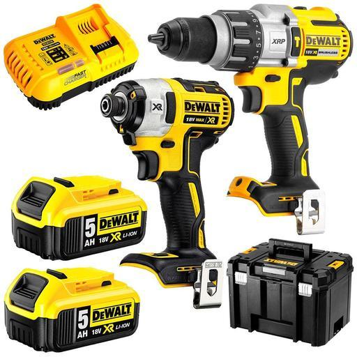 37917975e00 DeWalt DCK296P2T-XE 18V 5.0Ah XR Li-Ion Brushless Cordless 2pce Combo Kit