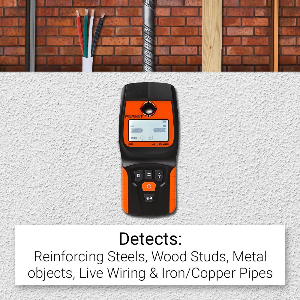 Pinpoint P120 Digital Pro Multi Scanner Stud Finder Wiring Through Studs