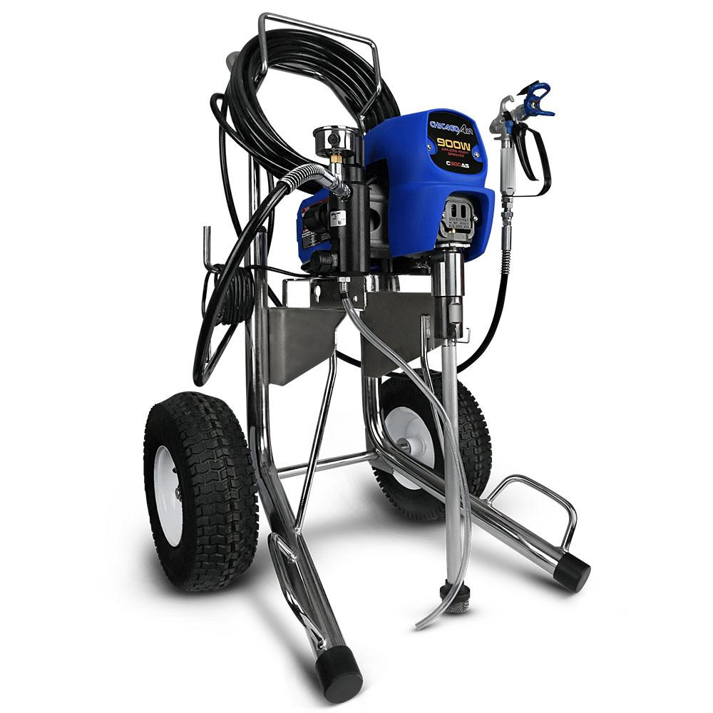 Chicago Air C900as 900w Airless Paint Sprayer With 15m Hose