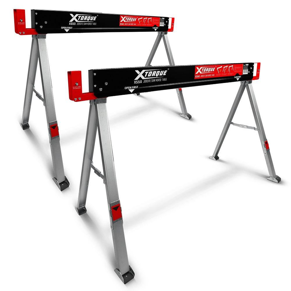 Enjoyable Xtorque X550 2 Pack Folding Sawhorse Jobsite Tables Download Free Architecture Designs Scobabritishbridgeorg