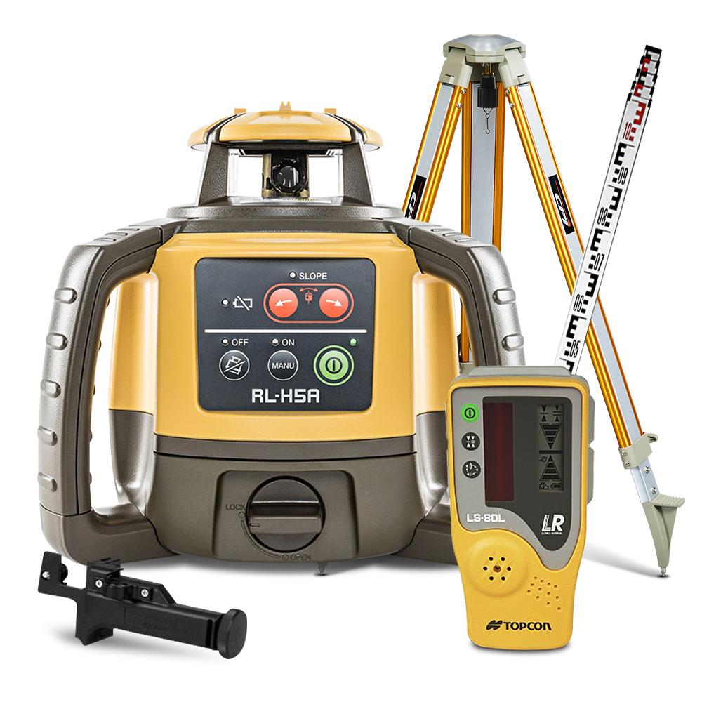 Tripod Staff Self Leveling Red Construction Measuring Kit Rotary Laser Level