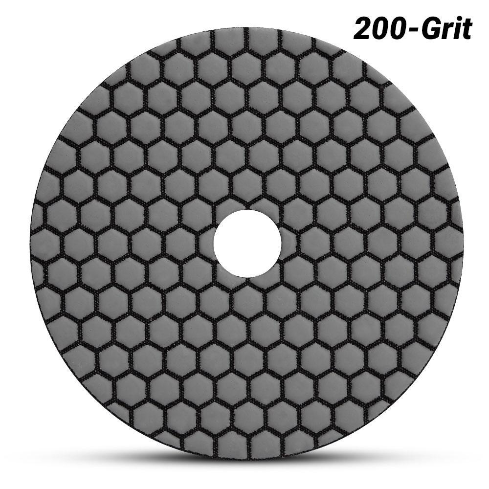 "5/"" premium concrete diamond polishing pad//pads 200 grit"