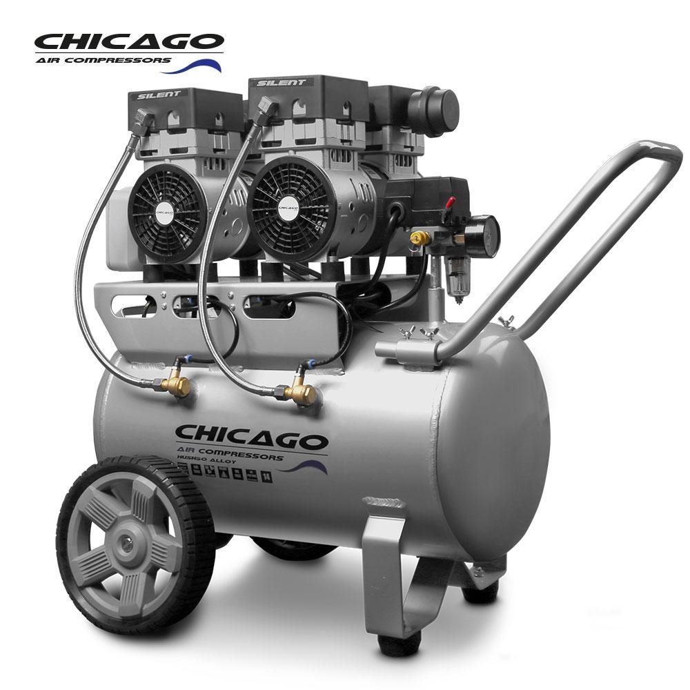 Chicago HUSH50 Aluminium Silenced 50L Air Compressor
