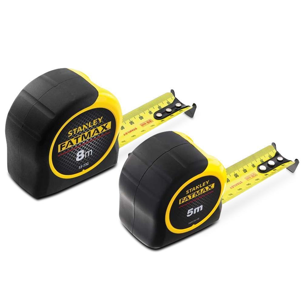 Stanley FMHT8-27793 FatMax 5m & 8m Tape Measure Twin Pack