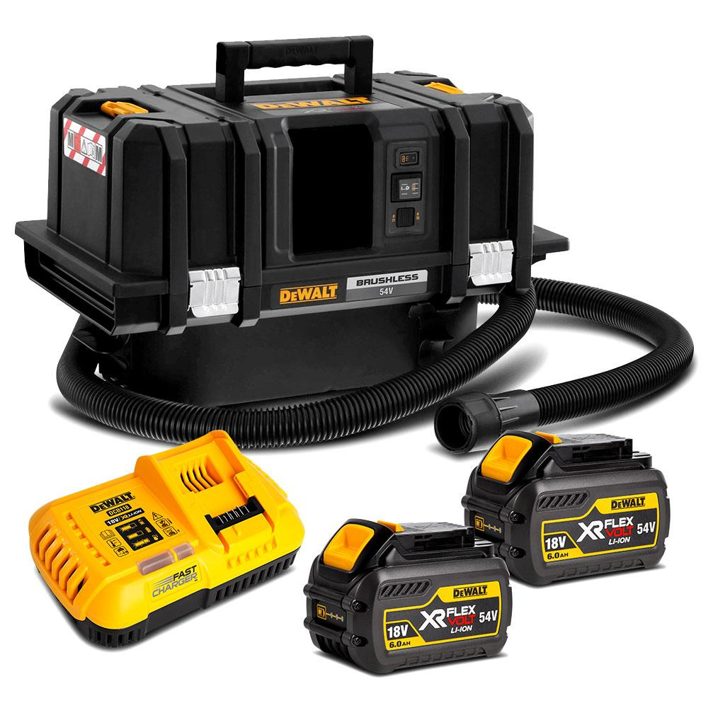 Dewalt Dust Extractor >> Dewalt Dcv586mt2 Xe 54v 6 0ah Flexvolt Xr Li Ion Cordless T Stak M Class Dust Extractor Vacuum Combo Kit