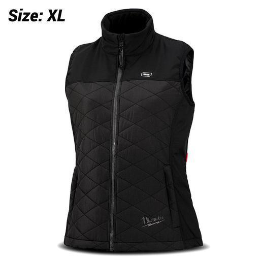 Milwaukee M12HVMBLACK9W-0XL 12V Li-ion Cordless AXIS Black Womens Heated  Vest (X-LARGE) - Skin Only