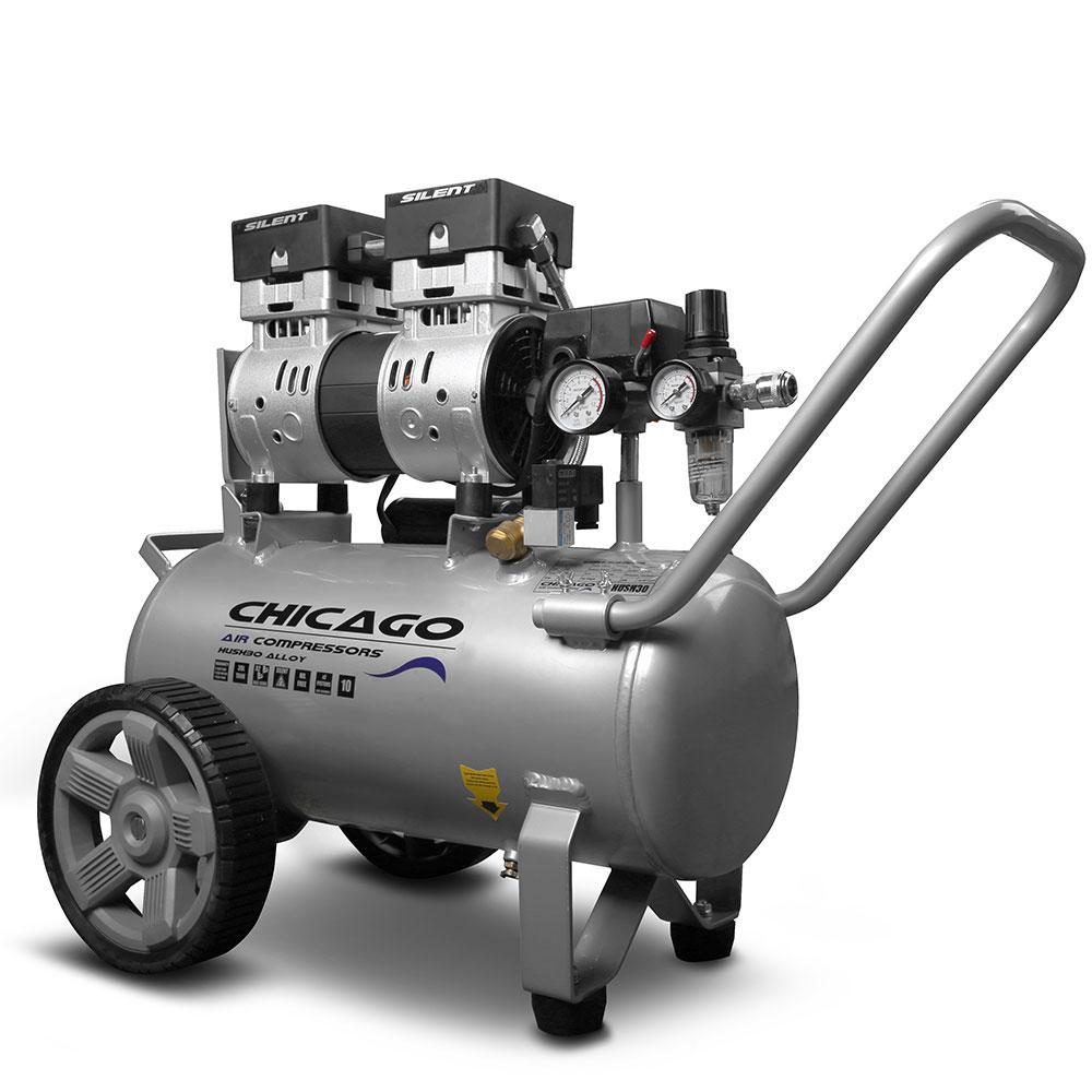 Chicago HUSH30 Aluminium Silenced 30L Air Compressor