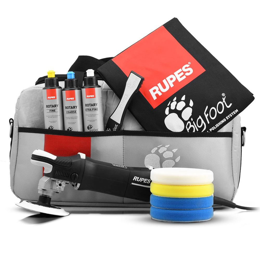 Rupes LH19E/DLX 1200W Bigfoot Rotary Polisher Deluxe Kit