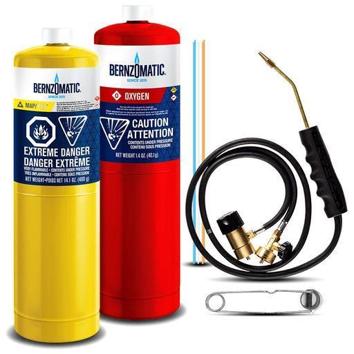 Bernzomatic WS5500XTK 400g MAP-Pro & 400g Oxygen Cutting, Welding & Brazing  Torch Kit