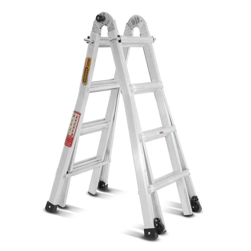 Gorilla Mm15 I 14 Step 1 2 2 1m 150kg Aluminium Mighty 15 Multi Purpose Ladder