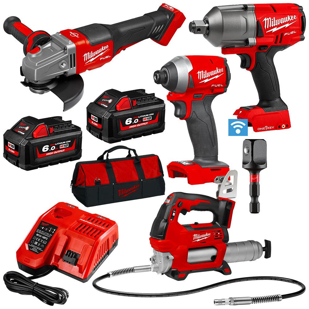 Milwaukee Brushless Cordless 3//4 in Impact Wrench M18 FUEL ONE-KEY 18V Li-ion