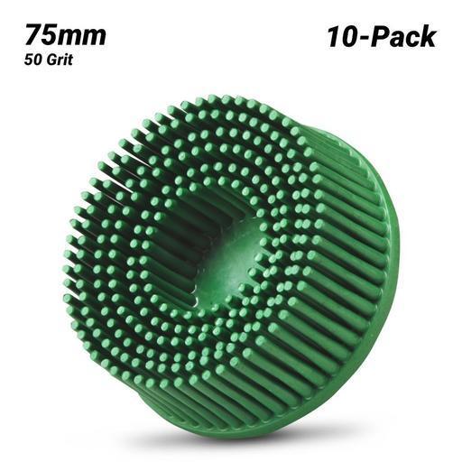 120 Grit 3M Scotch-Brite Roloc Radial Bristle Disc 10 Count
