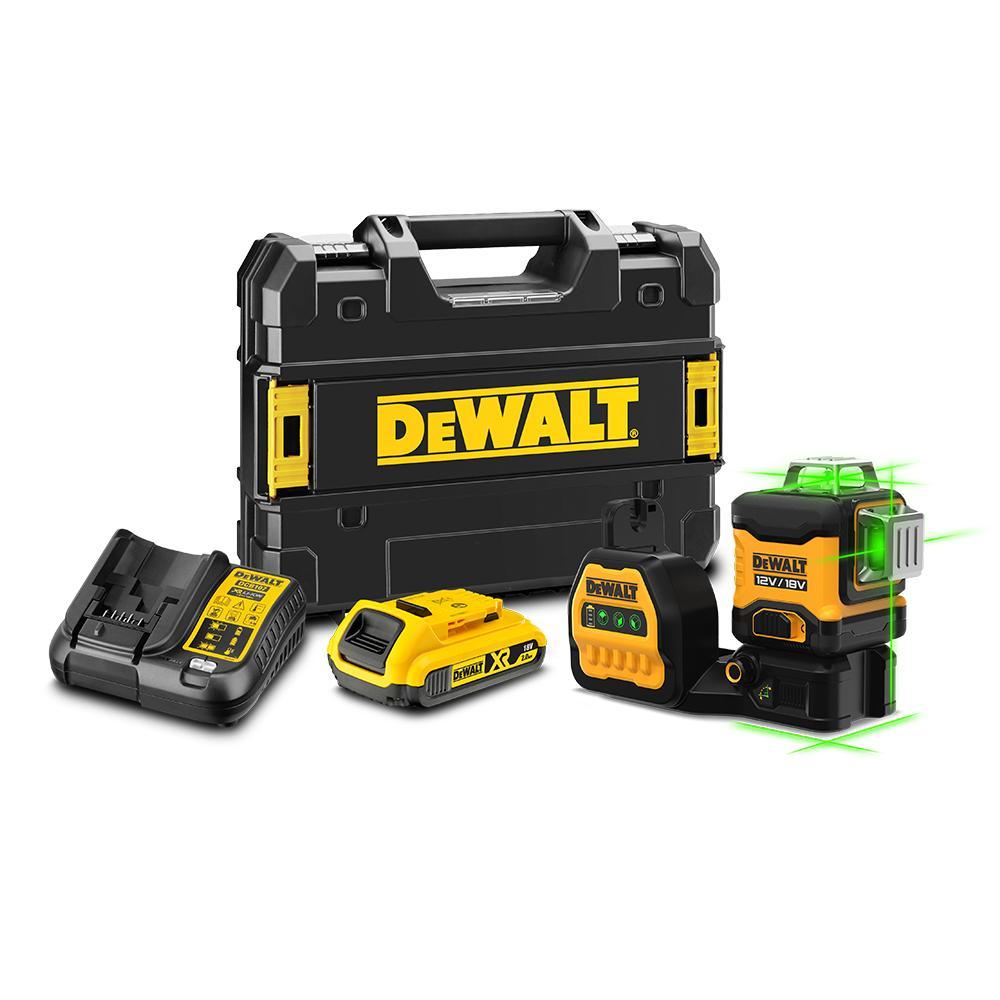 DeWalt DCE089D1G18-XE 18V 2.0Ah Li-ion Cordless 3 x 360° Green Beam MultiLine Laser Kit