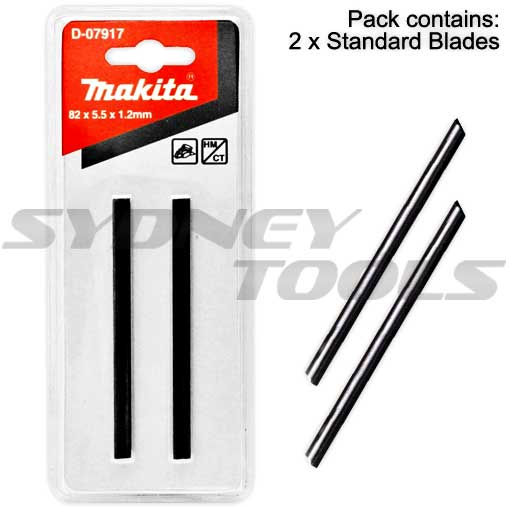 Makita D-07917 2-Pack 82mm Replacement Mini TCT Planer Blades