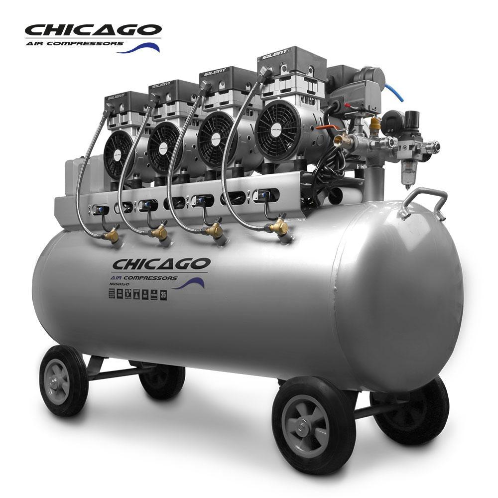 Chicago HUSH150 Silenced 150L Air Compressor