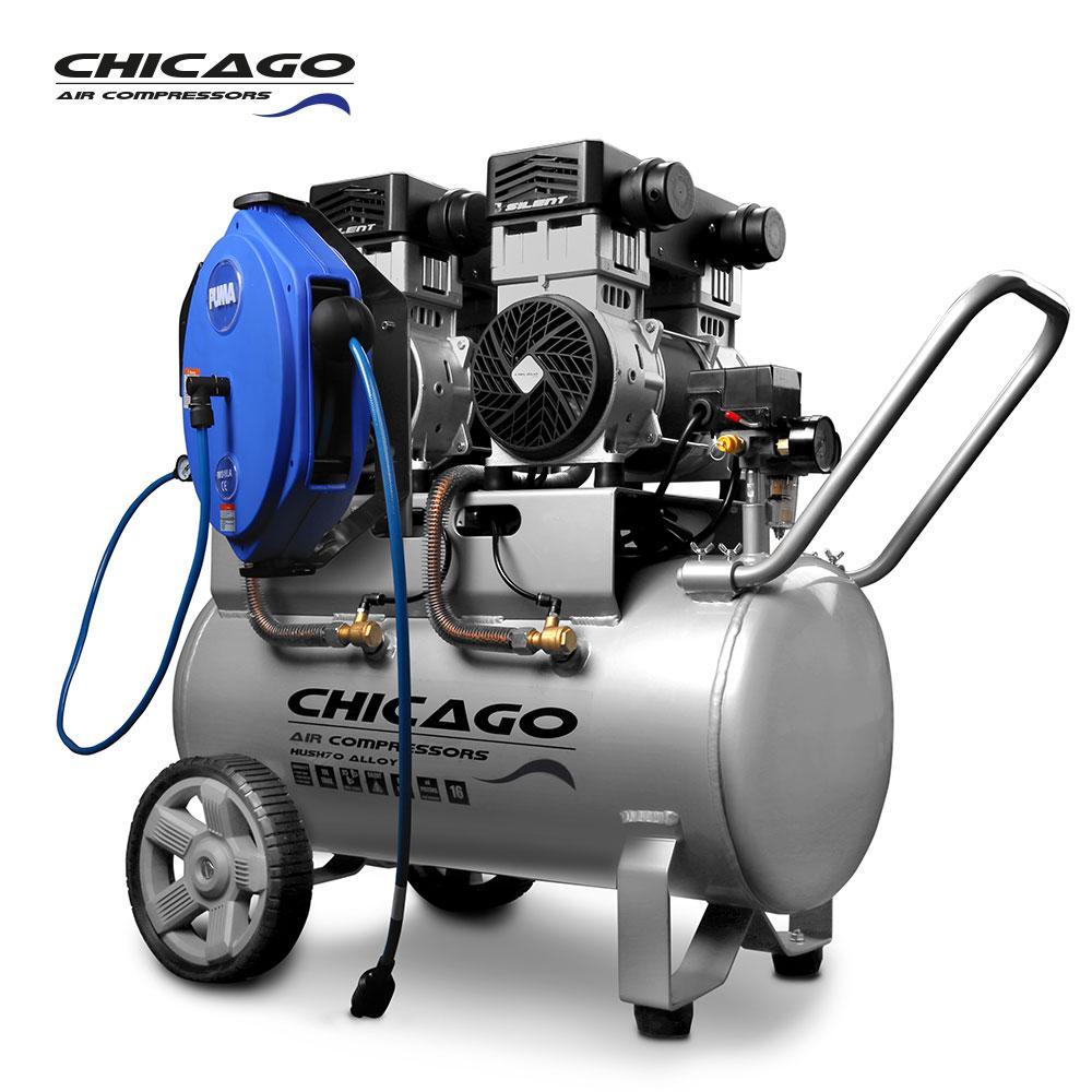 Chicago HUSH70 H Silenced 70L Air Compressor