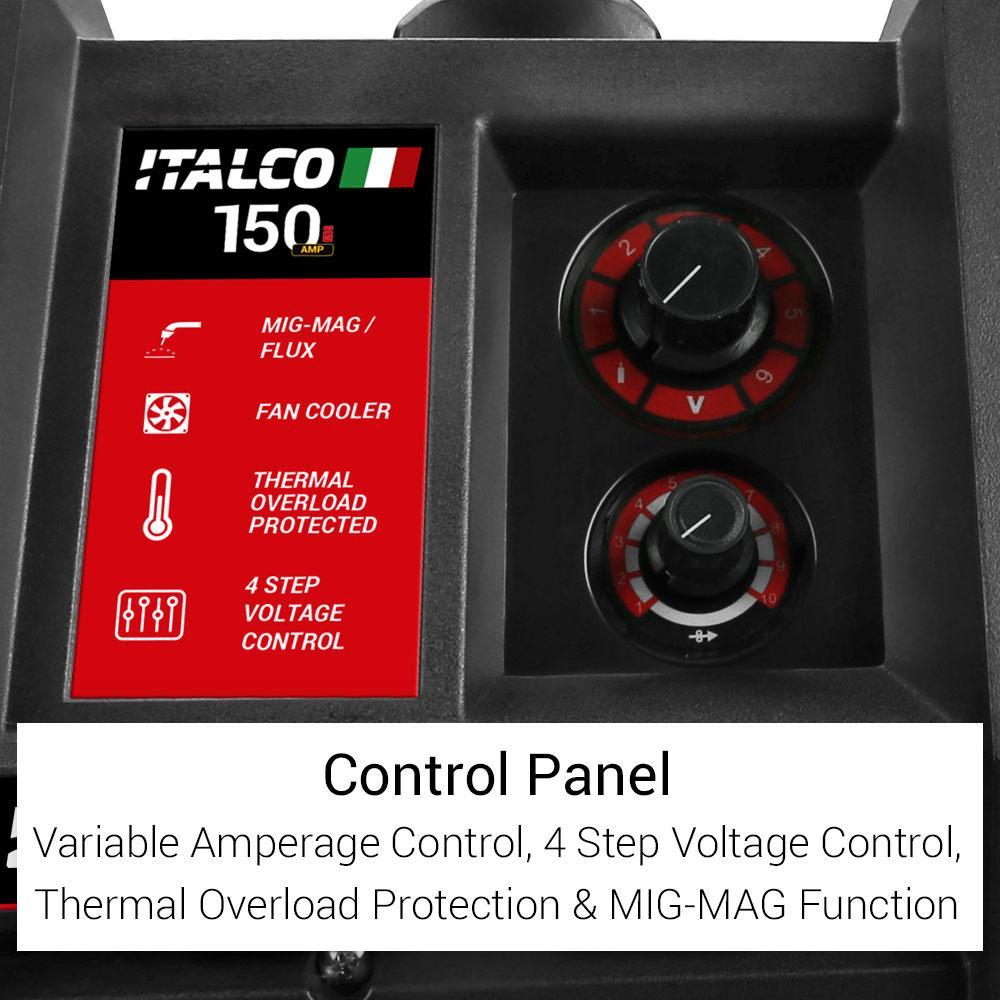 Italco 150M 150 amp Transformer Gas & Gasless Welder