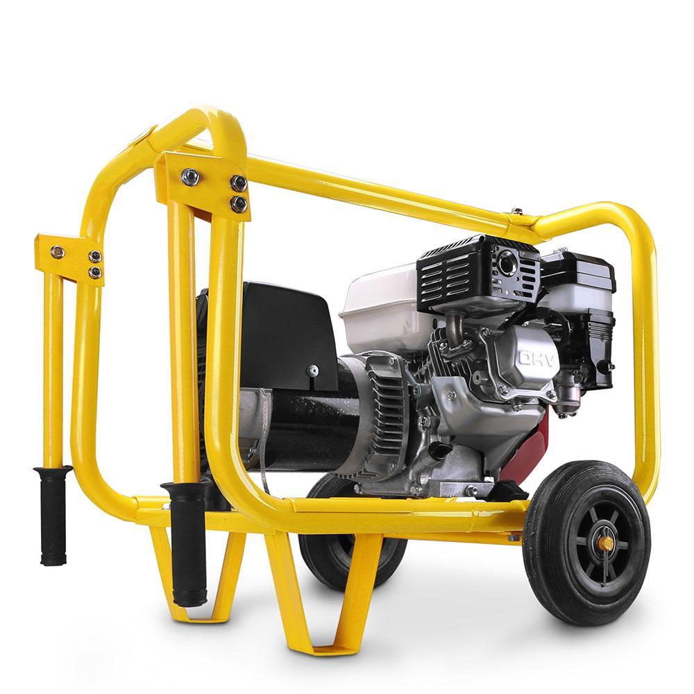 Gensafe GS4KVA-WK 4KVA 9HP Honda Powered Petrol Generator With Wheel Kit