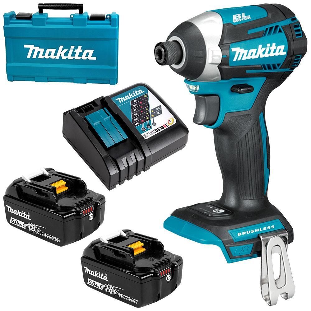 Makita Dtd154rte 18v 5 0ah Li Ion Cordless Brushless Impact Driver Combo Kit