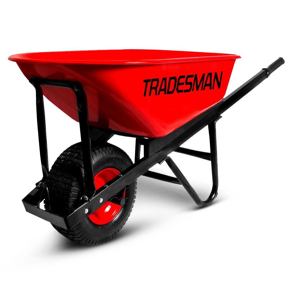 Tradesman Tradewide 100l Wide Wheel Heavy Duty Wheelbarrow