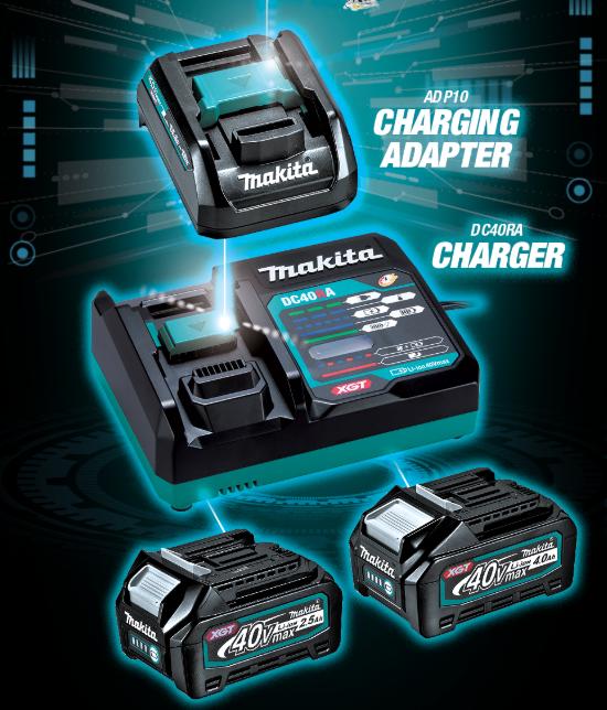 makita xgt 40v charging option